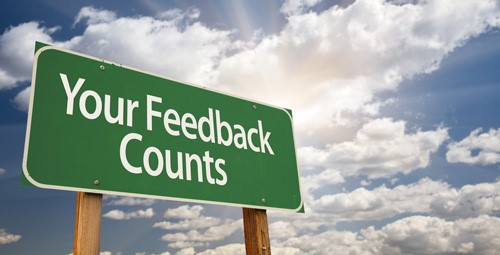 Your feedback counts